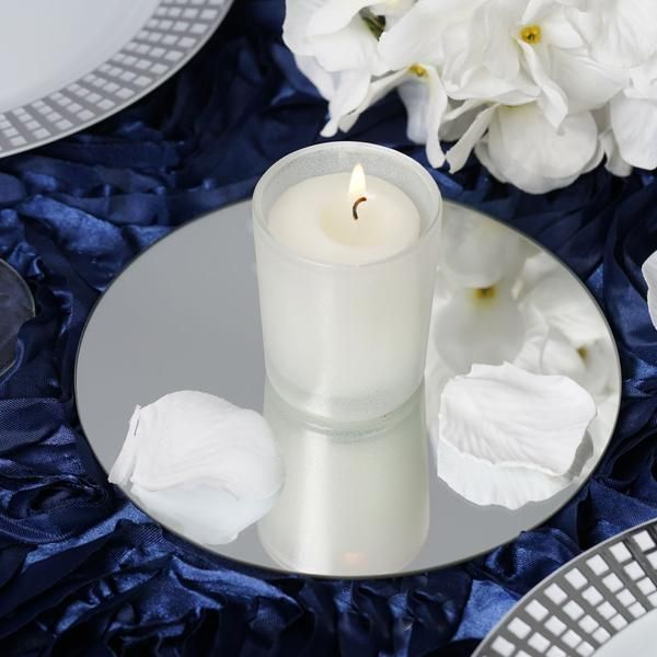 6 Pack 6 Round Glass Mirror Wedding Table Centerpieces Wedding Table Wedding Table Decorations
