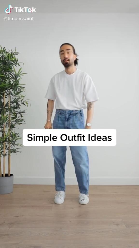 Video Simple Outfit Ideas For Men Fashion Tiktok Gaya Retro Pria Gaya Model Pakaian Pria Model Baju Pria