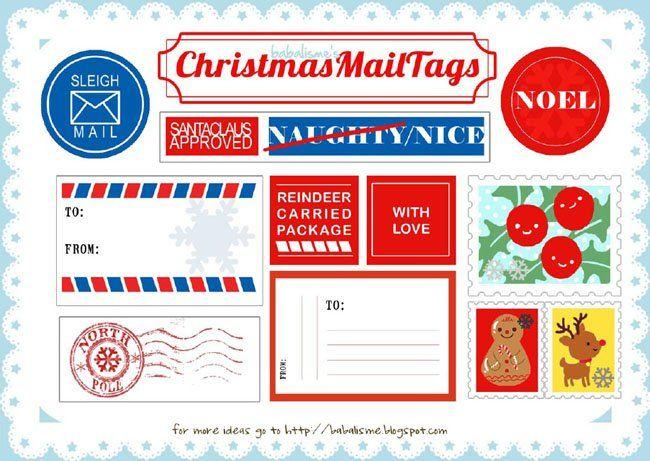 Vintage santa mailing labels | Como veis hay muchas posibilidades, así que podéis hacer varios ...