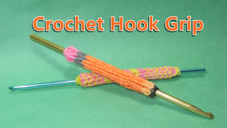 Rainbow Loom Hook Grip Tutorial (looks like a Pencil) Design / Tutorial ...
