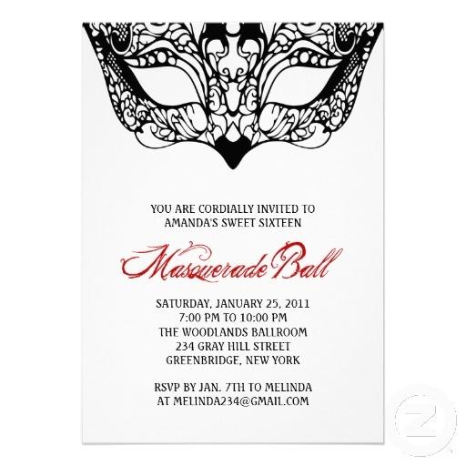 maquerade invitations