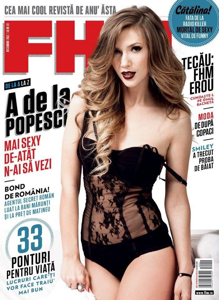Adela Popescu - FHM Magazine Cover [Romania] (December 2012)