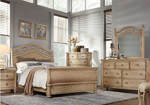 picture of Laurel View Sand 5 Pc Queen Sleigh Bedroom  from Queen Bedroom Sets Furniture