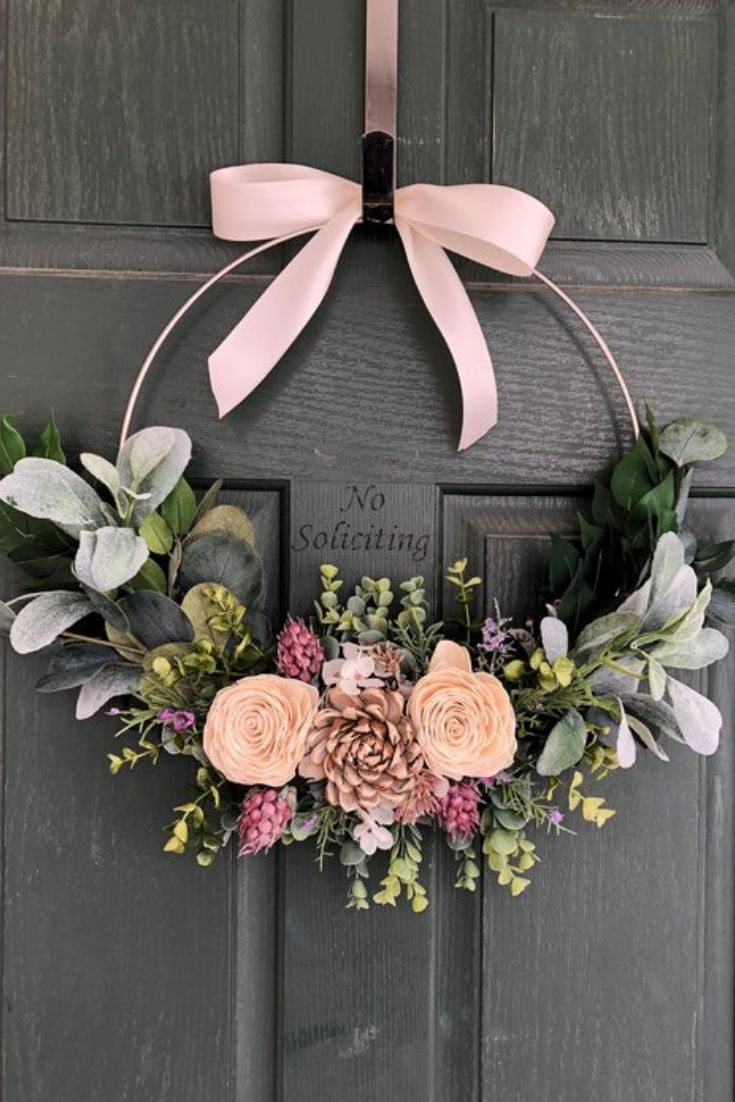 Get Inspiration Here To Make 20 Affordable Spring Wreaths And Garlands Diy Spring Wreath Door Wreaths Diy Spring Wreath