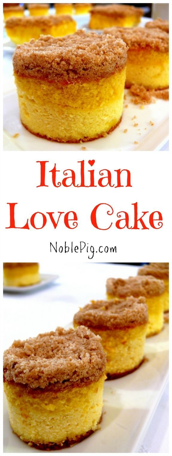 Italian Love Cake is perfect for Valentine's Day or anytime from NoblePig.com.