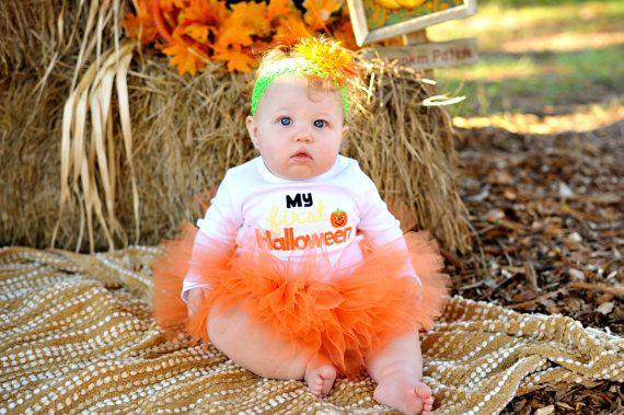 Pumpkin Halloween Costume TUTU Baby Halloween Fall by TutuCaChu, $39.99