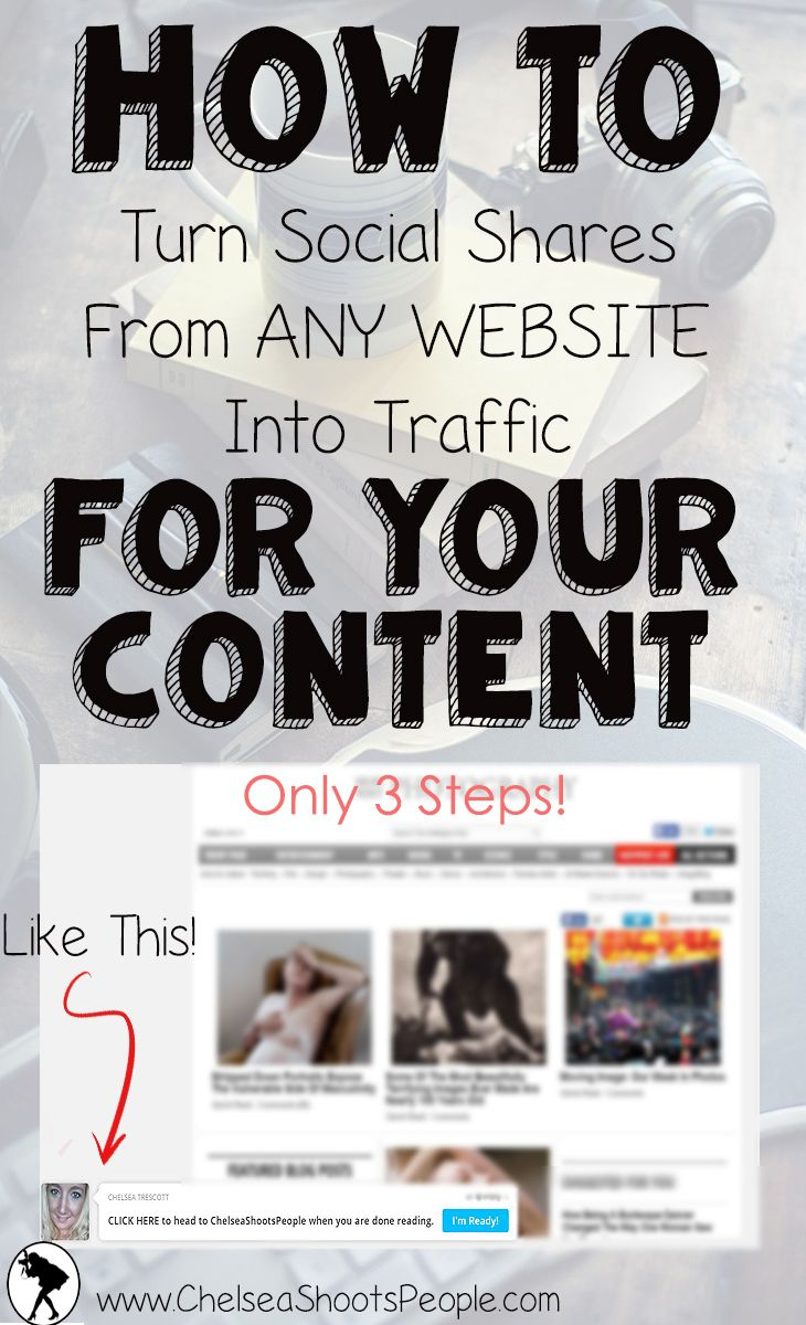 Chelsea Shoots People: How To Turn Social Shares From ANY Website Into Traffic For Your Content [In 3 Steps]