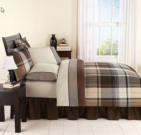 Twin Comforter Sets Plaid And Gray On Pinterest