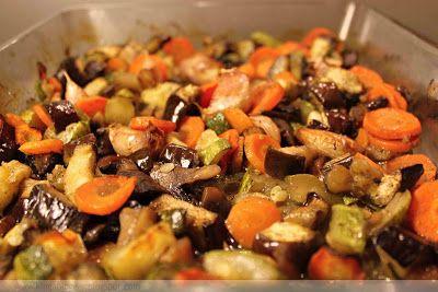 Grilovaná zelenina /baklažán, cuketa, šampiňóny, mrkva/   Kinga blogger