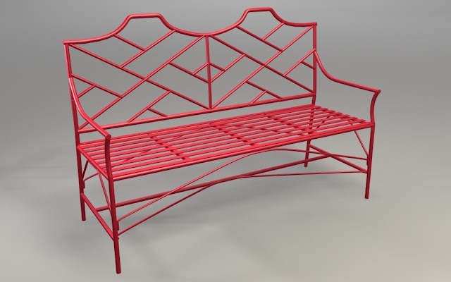 Fabulous wrought iron garden benches, amongst some other great stuff.