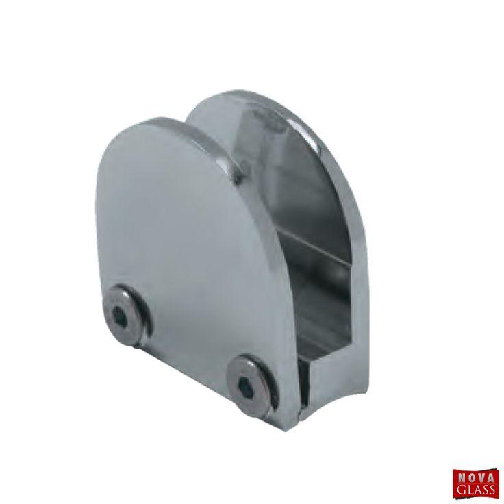 Στήριγμα διαιρούμενο ημικυκλικό για κρύσταλλο 10 mm Κωδ. 9316   Nova Glass e-shop
