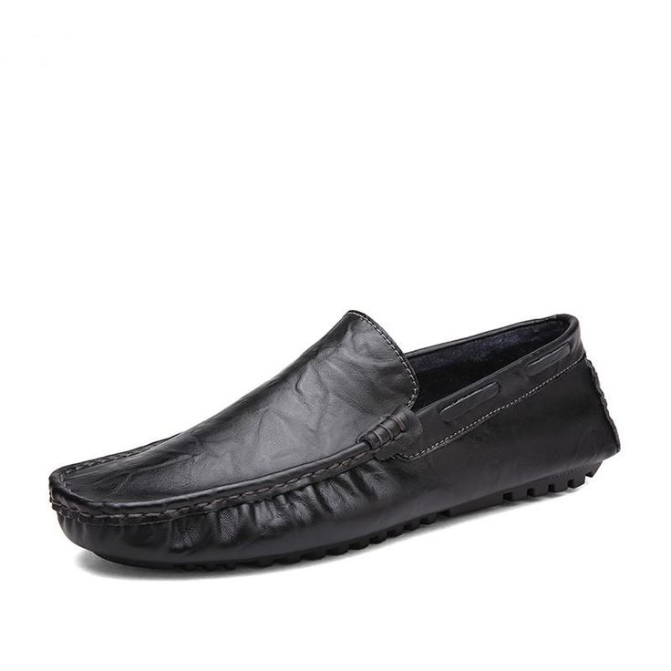 Boy's Men's Snap Slip-On Round Toe Casual Loafers Boat Shoes