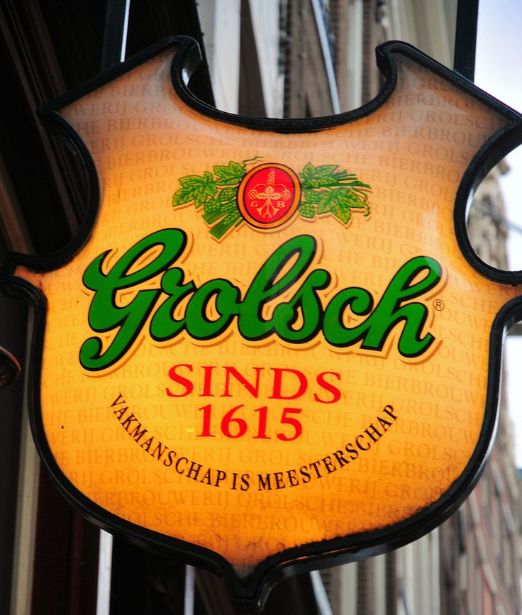 Grolsch Beer sign in Amsterdam Holland