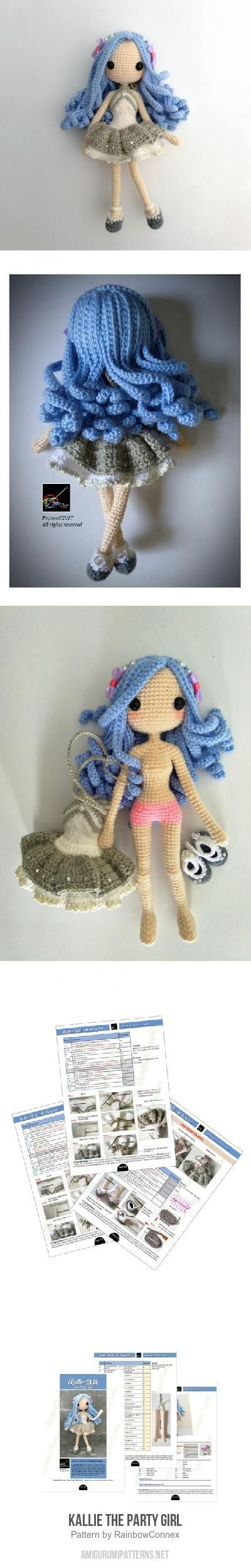 Kallie The Party Girl amigurumi pattern