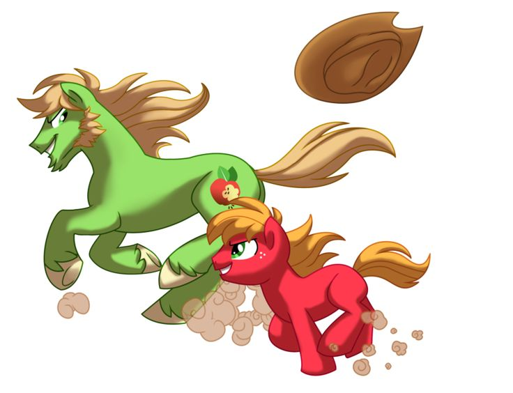 Just try and keep up! by Lopoddity on deviantART, Big Macintosh and his dad, Johnny