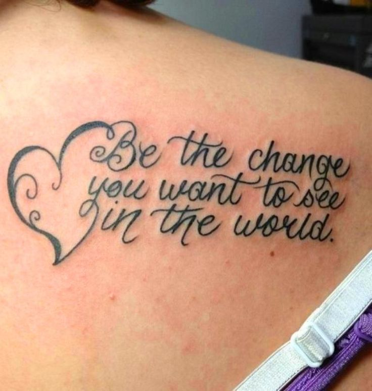 1000+ Ideas About Back Quote Tattoos On Pinterest