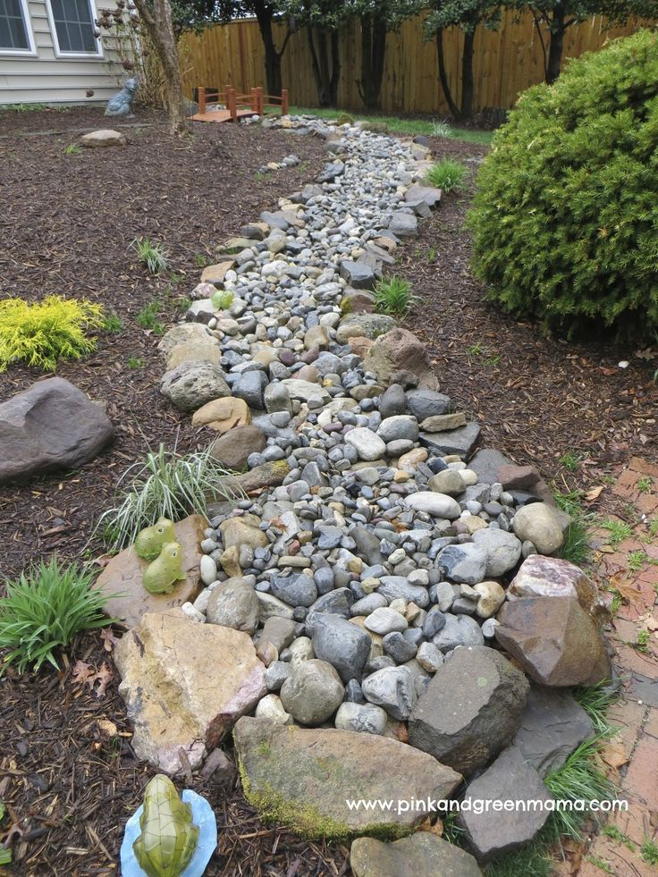 DIY Dry Creek Beds • Wonderful Ideas and Tutorials! Including, from 'pink and green mama', see how they did this backyard makeover with a dry river bed.