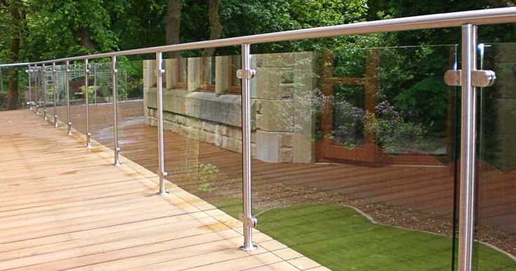 17 best images about balustrades on pinterest stainless for Garden decking glass panels