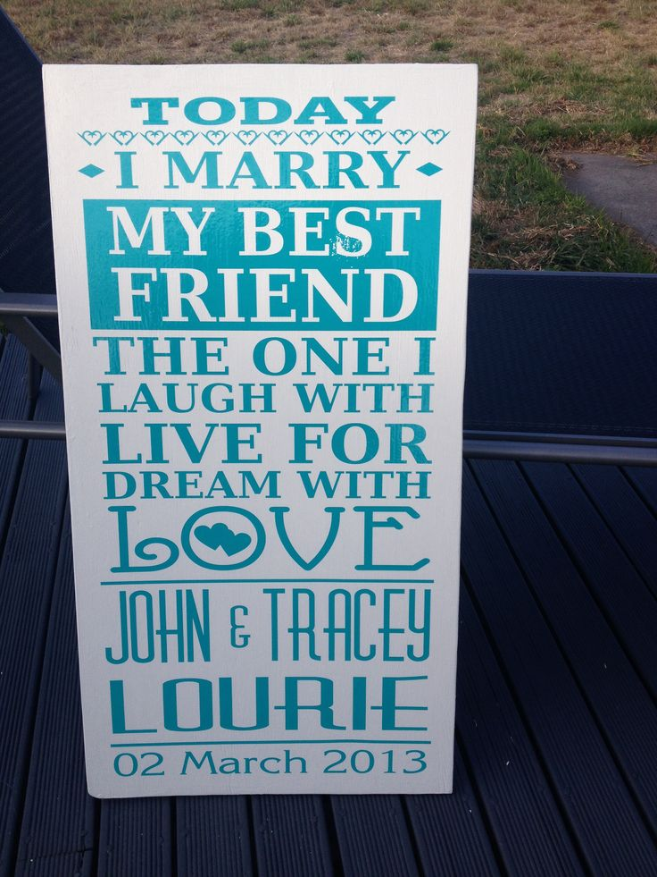 Sign we had at the reception