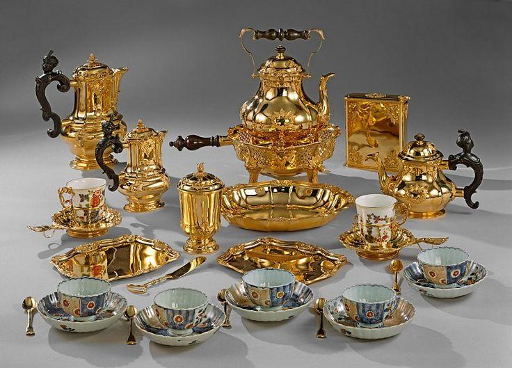 Anton Matthias Joseph Domanek: Chocolate dishes Maria Theresia, Vienna 1750