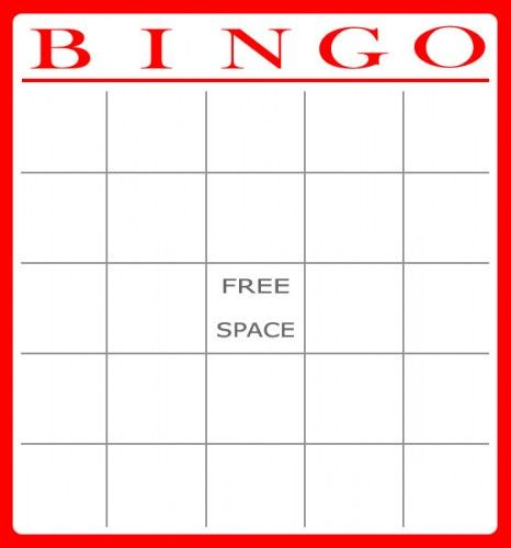 Bingo card template 20 pinterest for 4x4 bingo template