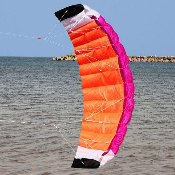 High-Quality 2m Nylon Dual Line Parafoil Kite With Control Bar Line
