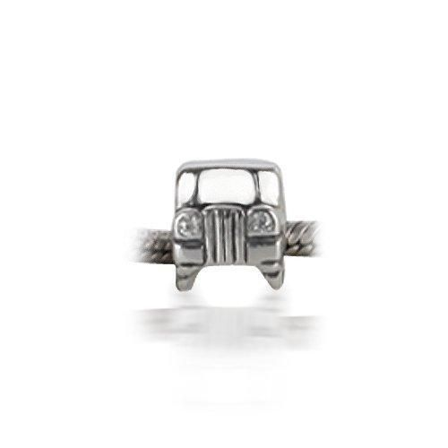Bling Jewelry Sterling Silver Jeep Car Bead CZ Headlights Fits Pandora Charms