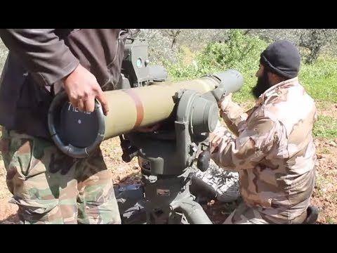 Jihadists using BGM-71 TOW, anti-tank missiles, in Northeast Hama