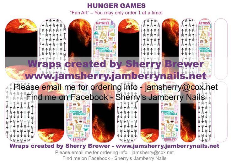 Hunger Games Custom Jamberry Nail Art Design