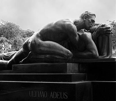 Passion...The Last Goodbye by Alfredo Oliani, is the tomb of Family Cantarella, Sao Paulo in the cemetery.