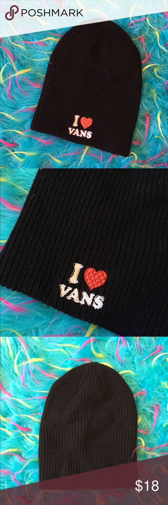 •I ❤️ VANS Classic Black Beanie•BNWOT✨ NWOT ✨ This beanie has been washed and is in excellent condition! Never worn only the tags have been taken off because I thought I would wear it. Vans Accessories Hats