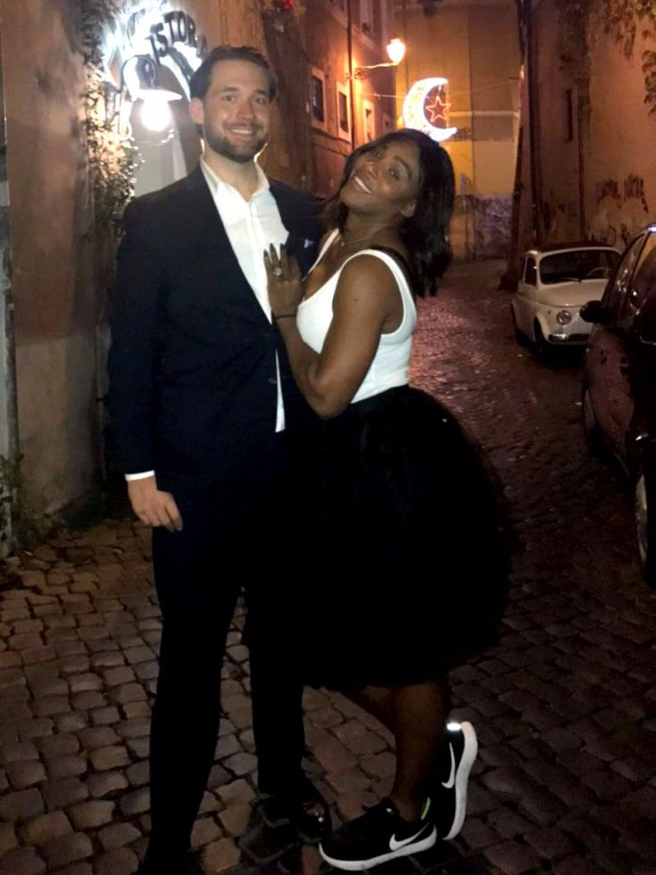 """#YahooCelebrityNews ..... ''Serena Williams is no stranger to the fashion game, but her style received a recent upvote when she took to Reddit on Thursday to show off her engagement ring.  The 35-year-old professional tennis player titled her post on Reddit as """"Engagement shoe game,"""" and featured a photo of herself and fiancé Alexis Ohanian, 33, dressed to impress.''....  https://www.yahoo.com/cel"""