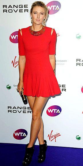 Maria Sharapova away from the court