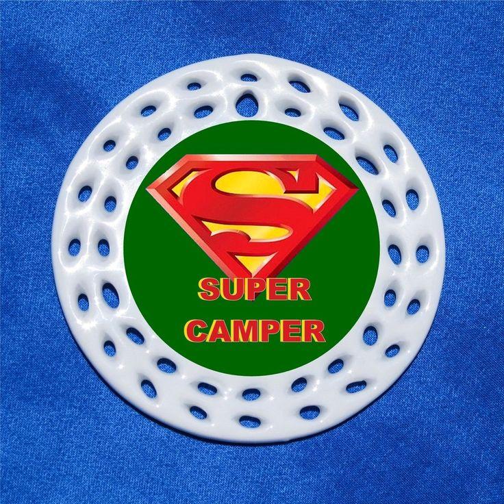 Super Camper Porcelain Gift 3 Formats Superman Logo Hero Camping Summer Camp