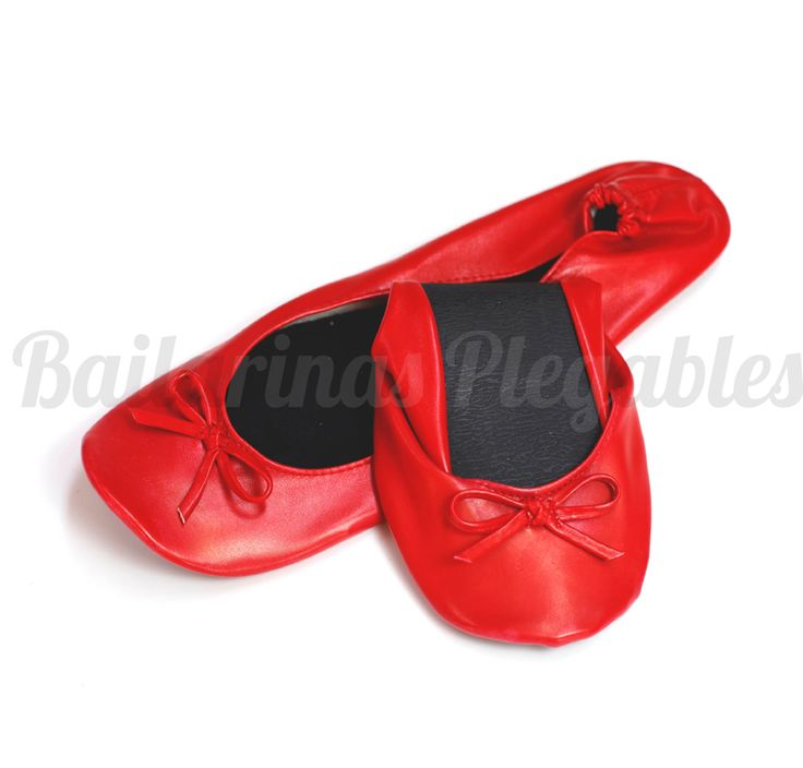 Bailarinas Plegables Rojas. Cómodas y con buenos acabados. Geniales para dar un toque de color a tus looks.
