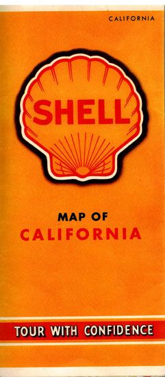 Shell Map Of California Complimentary Gas Station Road Map - $25.00 : Vintage Collectibles Sewing Patterns Postcards Aprons Ephemera