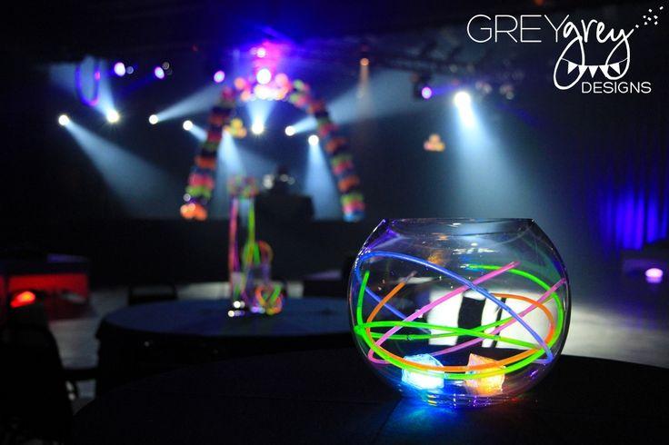 Neon Table Centerpieces Glow stick wedding centerpiece
