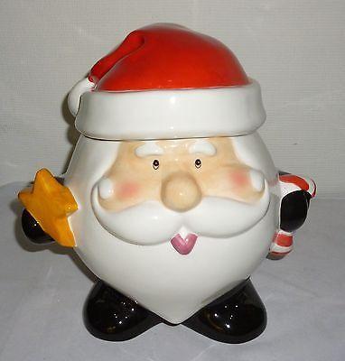 Holiday Christmas Santa Claus Cookie Jar