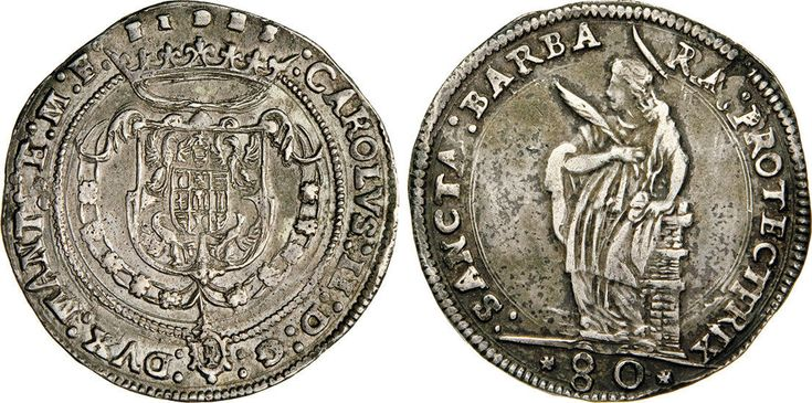 NumisBids: Numismatica Varesi s.a.s. Auction 65, Lot 414 : MANTOVA - CARLO II GONZAGA/NEVERS (1647-1665) 80 Soldi s.d. D/...