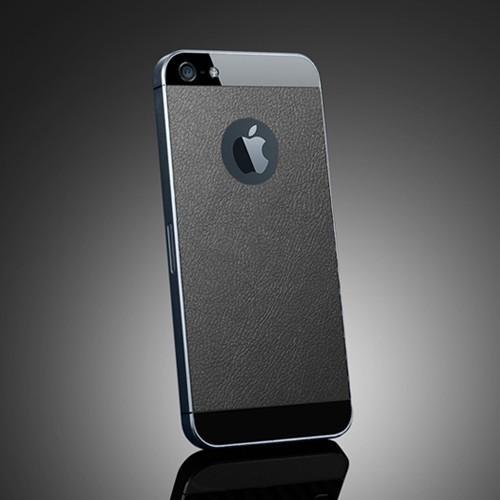 Skin Guard iPhone 5 - textura piele neagra de la SPIGEN SGP