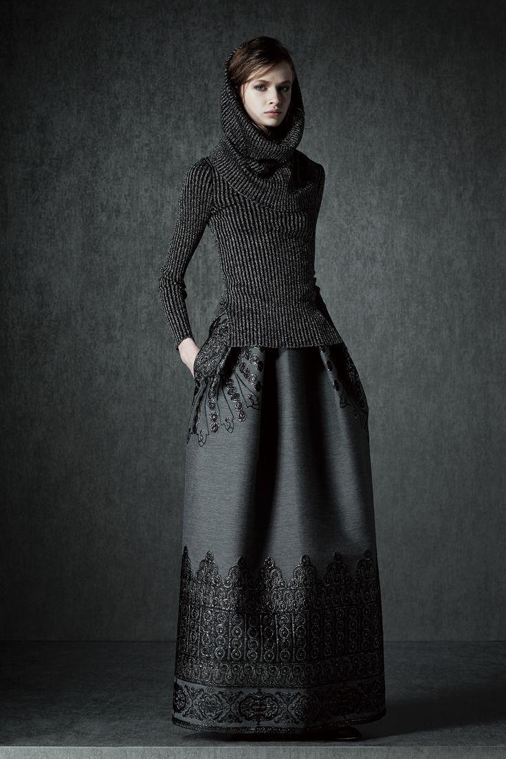sweater. skirt. monochrome.