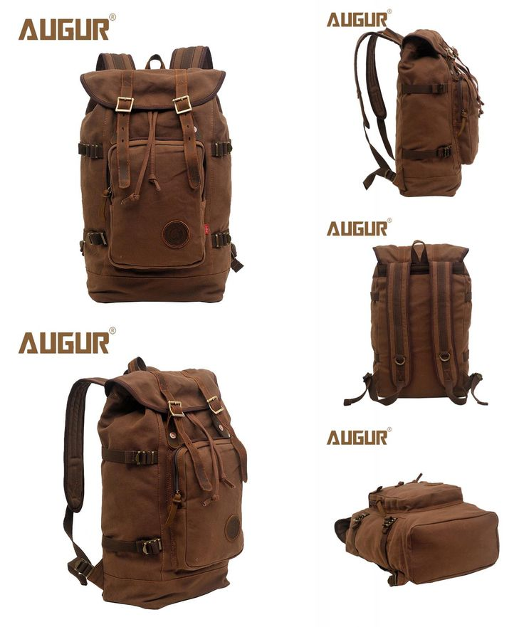 [Visit to Buy] AUGUR Brand New Fashion Backpack Women Mens Designer Backpack Retro Canvas Leisure Laptop Backpack Men Shoulder Bag HT100277 #Advertisement