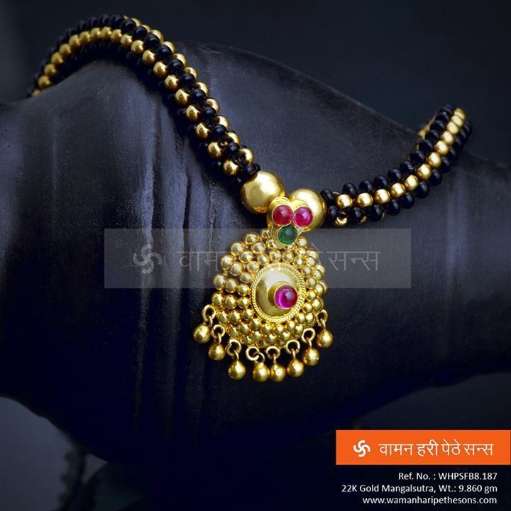 Simply attractive designer Maharashtrian gold #mangalsutra from our spectacular collection. #jewellerycollection #Indianjewellery #jewellerylove #indian #traditionaljewellery #wedding #indianwedding #goldjewellery #ethnic #follow4follow #golden #instalike #f4f #instagood #l4l #instalike #diamonds #indian #gift #lovely #Accessories #fashion #woman #modern #fashionista #today #new