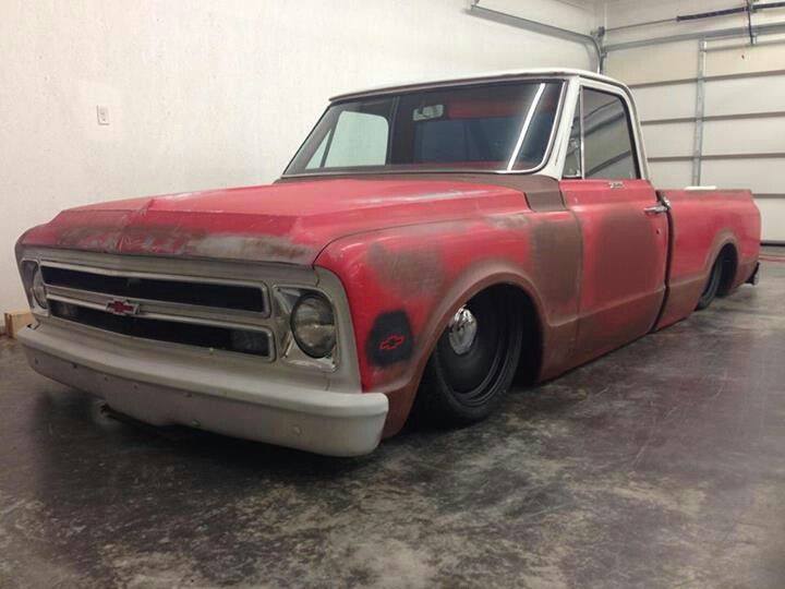 "1967 Chevrolet C10 With 20"" Steelies (Detroit Steel Wheels)"