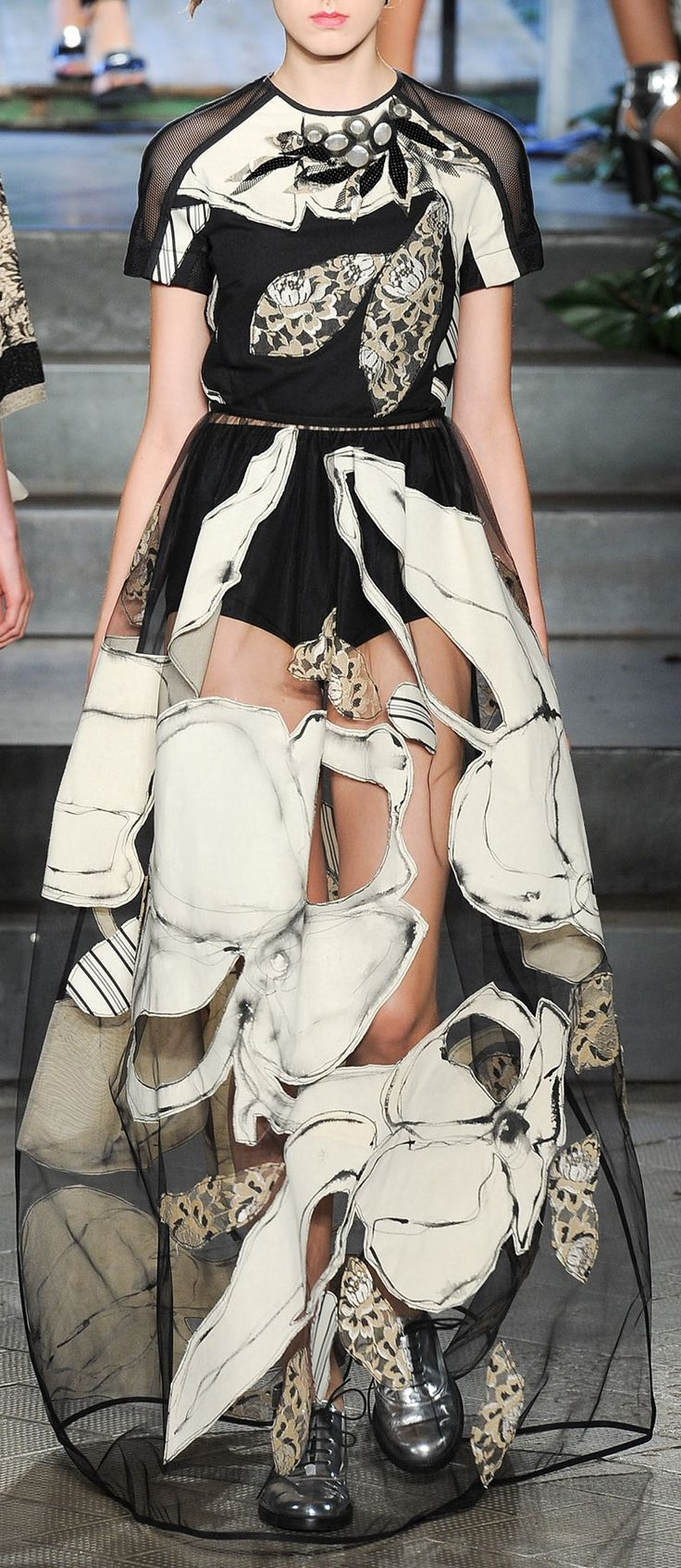 Antonio Marras | Spring '14 - big illustrated prints and fantastic detail & structure #fashion