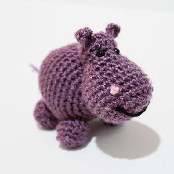 Crochet Patterns Zoo Animals : CROCHET PATTERN SET - Amigurumi Zoo Animals - Hippo, Giraffe, Lion ...