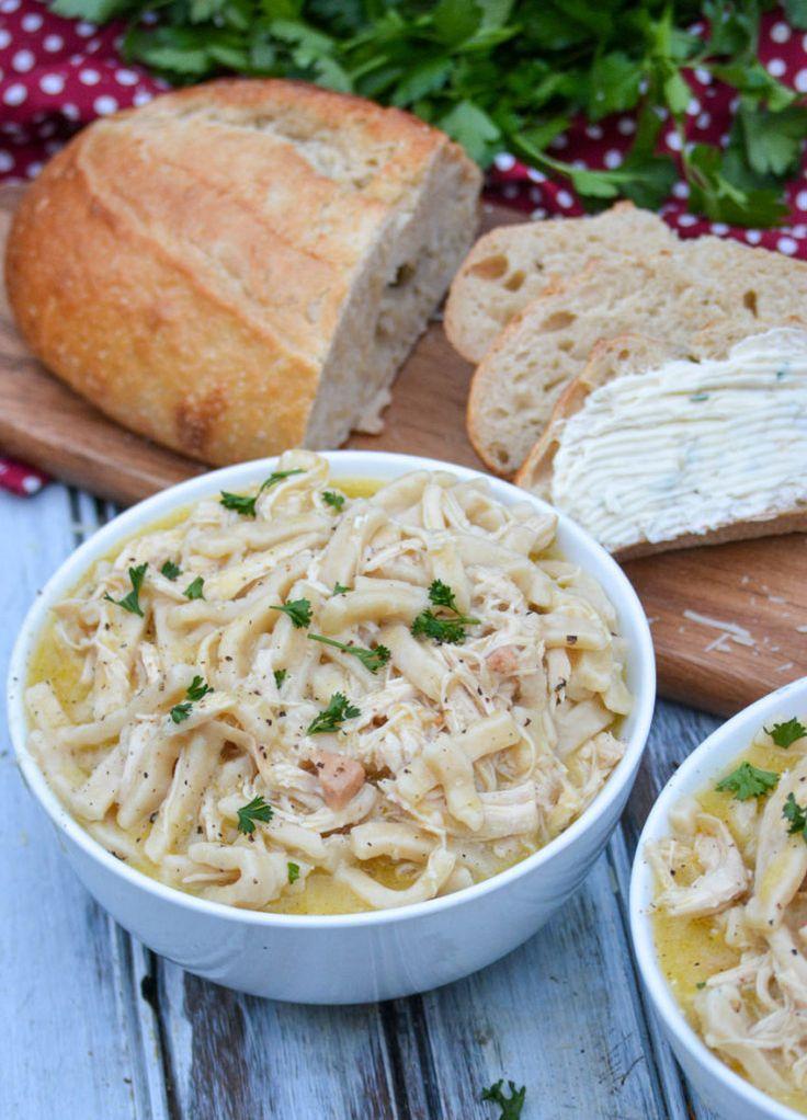 instant pot creamy chicken  noodles  recipe  creamy