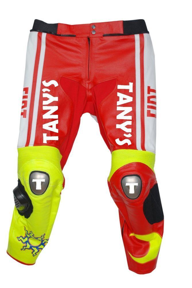 YAMAHA FIAT RED MOTORBIKE MOTORCYCLE MOTOGP LEATHER PANT VALENTINO ROSSI #MYFIXDEALTANYS
