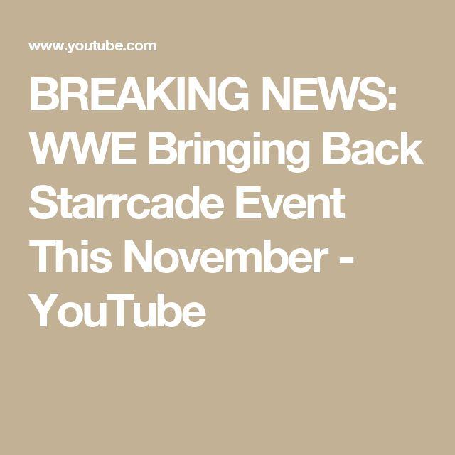 BREAKING NEWS: WWE Bringing Back Starrcade Event This November - YouTube