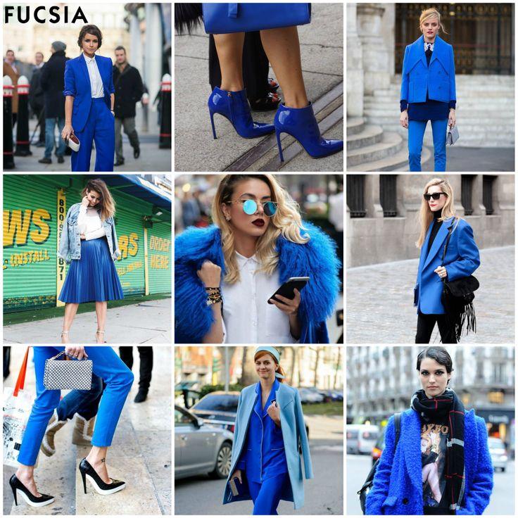 #Tendencia2017  El azul nunca se vio tan bien como se ve de esta manera. Esta temporada los colores eléctricos serán los protagonistas de todos nuestros looks y azul vibrante realzará el negro de todo tu outfit.